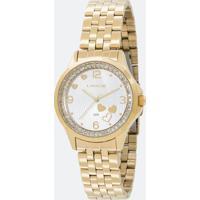 Kit Relógio Feminino Lince Lrg4511L Ku63S2Kx Analógico 3Atm