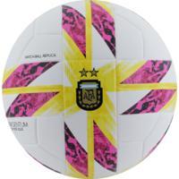 Bola De Futebol De Campo Argentina Top Replique Adidas - Branco/Rosa