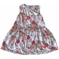 Vestido Clube Tpz Floral Com Laços Rosa