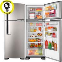 Refrigerador   Geladeira Brastemp Clean Frost Free 2 Portas 352 Litros Inox - Brm39Ek