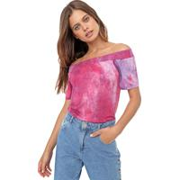 Blusa Fiveblu Tie Dye Rosa/Lilás