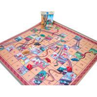 Jogo De Tabuleiro Ludens Spirit Tatu Brasilis E Serpentes & Escadas Multicolorido
