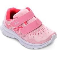 Tênis Infantil No Stress Running Velcro - Feminino-Rosa+Pink