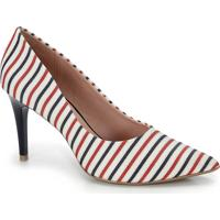 Sapato Scarpin Bico Fino Lara - Bco/Mho