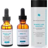 Kit Tônico Facial Skinceuticals 125Ml + Rejuvenescedor Facial 30Ml + Tratamento Antiacne 30Ml - Unissex-Incolor