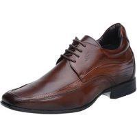 Sapato Rafarillo Linha Alth Você + Alto 7Cm Couro Marrom Com Cadarço Mogno