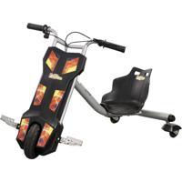 Triciclo Elétrico Spin Kids Dropboards 100W - 12V - Cinza
