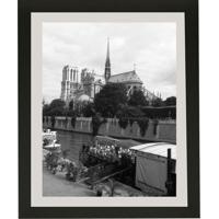 Quadro Contemporâneo Paris 28X23 Preto Com Vidro