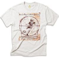 Camiseta Futebol Cool Tees Jogador Da Vinci Masculino - Masculino-Cinza