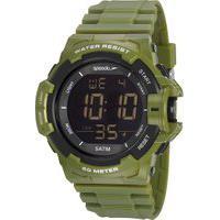 Kit De Relógio Digital Speedo Masculino + Carregador Portátil - 81202G0Evnp1Ka Verde Militar