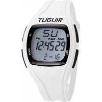 Relógio Pedômetro Tuguir Digital Tg1602 - Branco