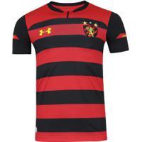Camisa Do Sport Recife I 2018 Under Armour - Masculina - Vermelho Preto 16f665a0085
