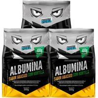 Kit 3X Albumina 500G - Proteína Pura - Unissex