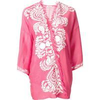 P.A.R.O.S.H. Kimono Bordado - Rosa