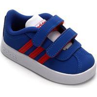 Tênis Infantil Adidas Vl Court 20 Cmf Velcro - Unissex-Azul+Vermelho