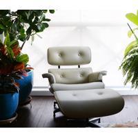 Poltrona E Puff Charles Eames - Madeira Imbuia