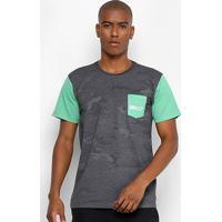 Camiseta Oakley Especial Mod Highest Camo Block Sp Masculina - Masculino