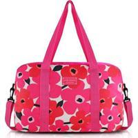 Bolsa De Viagem Jacki Design Poliéster - Feminino-Pink