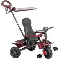 Triciclo Infantil Smart 266 Com Empurrador - Unissex-Vinho+Preto