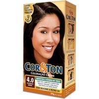 Tintura Cor E Ton Kit Creme 4.0 Castanho Medio 175G