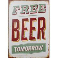 Quadro Free Beer Tomorrow Fullway 70X50