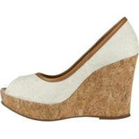 Sapato Barth Shoes Delhi Peep Toe Areia