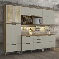 Cozinha Duquesa Completa Com Led - 5 Peças - Freijó Com Offwhite – Nesher