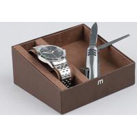 Kit De Relógio Analógico Mondaine Masculino + Canivete - 99147G0Mvne1Kb Prateado - Único