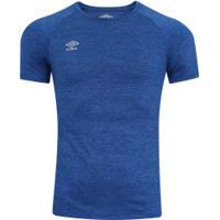 Camiseta Umbro Twr Flat New - Masculina - Azul Mescla
