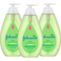 Kit 3 Shampoos Johnson Baby Para Cabelos Claros - Unissex-Incolor