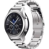 Pulseira De Metal Inox Tudo Smartwatch Para Samsung Galaxy Gear S3 Classic Prata