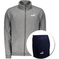Agasalho Puma Clean Sweat Suit Cl - Masculino-Cinza