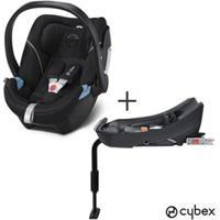 Bebe Conforto Aton 5 Preto E Cinza - Cybex + Base De Seguranca 2-Fix Para Bebe Conforto Aton Preta - Cybex