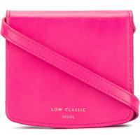 Low Classic Bolsa Transversal Com Estampa De Logo - Rosa