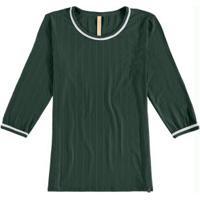 Blusa Malha Canelado Ravena Verde