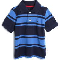 Camisa Polo Tommy Hilfiger Kids Menino Listrada Azul/Azul-Marinho