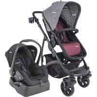 Carrinho De Bebê Travel System Kiddo Explorer Vinho + Base