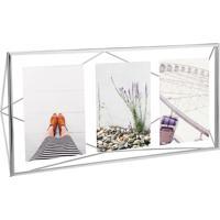Porta-Retrato Prisma Multi Fotos Prata