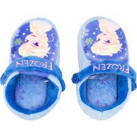 Pantufa Infantil Chinelo Kick Ricsen Frozen Azul