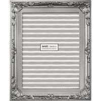Porta Retrato Decorando Com Classe Retrô 20X25Cm Prata