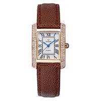 Relógio Feminino Wwoor 8806 - Marrom E Dourado
