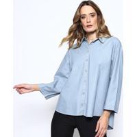 Camisa Jeans Com Amarração - Azul - Sommersommer