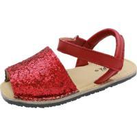 Sandália Hobby Infantil Glitter Vermelha