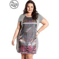 Vestido Plus Size Miss Masy Plus Mpf5627-5002 Mescla