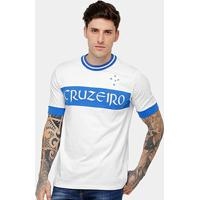 Camiseta Cruzeiro Recorte Masculina - Masculino-Branco