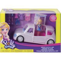 Boneca Polly Pocket Limousine Fashion Com Acessórios Branco E Rosa