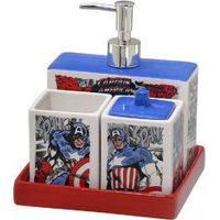 Jogo De Banheiro Capitão América 4 Peças – Marvel