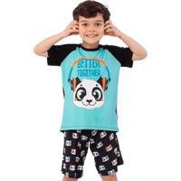 Pijama Manga Curta Kids Visco Panda 2
