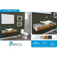 Bancada Para Banheiro - Conjunto Madri 1000 Branco C/ Western