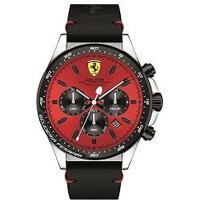Relógio Scuderia Ferrari Masculino Couro Preto - 830387